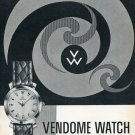 1955 Vendome Watch Company Switzerland Vintage 1955 Swiss Ad Suisse Advert Horology