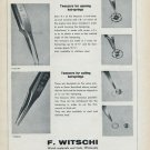 1955 F. Witschi Company Watch Tools Supplier Switzerland Vintage 1955 Swiss Ad Suisse Advert