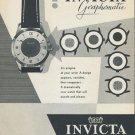 1955 Invicta Watch Company Switzerland Vintage 1955 Swiss Ad Suisse Advert