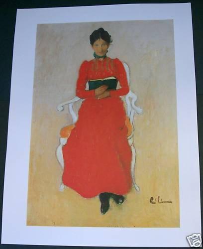 Carl Larsson Portrait of Dora Lamm Art Ad
