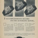 1955 Record Watch Company Geneva Switzerland Vintage 1955 Swiss Ad Suisse Advert Horology