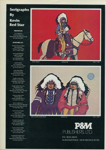 1980 Kevin Red Star Bull Shows and Red Shirt 1980 Art Ad Advertisement