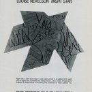Louise Nevelson Night Star 1981 Art Ad Advert Advertisement