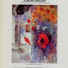 1981 Joyce Treiman Carpe Diem Vintage 1981 Art Exhibition Ad Advert Forum Gallery, NY