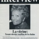 Interview of Liliane Schmid 1977 Swiss Magazine Article Rolex Watch Company Horology