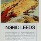 Ingrid Leeds Windsand Vintage 1982 Art Ad Advertisement