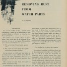 1953 Removing Rust from Watch Parts Vintage 1953 Swiss Magazine Article Horology Horlogerie