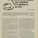 1955 Table of Standard Dimensions of Mainsprings by GA Berner 1955 Swiss Magazine Article Horology