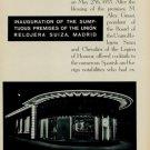 1953 Inauguration of the Union Relojera Suiza Madrid 1953 Swiss Magazine Article Horology