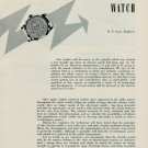 1957 The Origin of the Electric Watch Vintage 1957 Swiss Magazine Article Horlogerie Horology Suisse