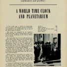 1953 World Time Clock and Planetarium 1953 Swiss Magazine Article Lothar M Loske Turler