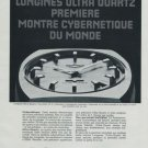 Longines Watch Company Cybernetique Vintage 1972 Swiss Ad Suisse Advert Horology