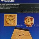 Arthur Imhof Clock Company Switzerland Vintage 1974 Swiss Ad Suisse Advert Horlogerie