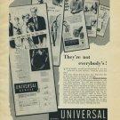 1954 Universal Geneve Watch Company Switzerland Vintage 1954 Swiss Ad Geneva Switzerland
