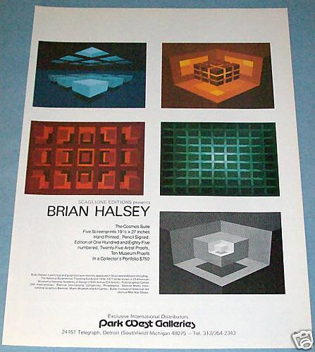 1976 Brian Halsey The Cosmos Suite Original 1976 Art Ad Advert Advertisement
