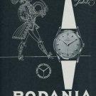 1956 Rodania Watch Company Switzerland Vintage 1956 Swiss Ad Suisse Advert Jubile