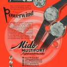 1954 Mido Watch Company Vintage 1954 Swiss Ad Suisse Advert Horology G Schaeren & Co Switzerland
