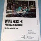 David Kessler Ruined Slide Series 1976 Art Exhibition Ad ADI Gallery, San Francisco