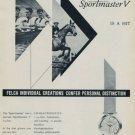 Felca Watch Company Switzerland Vintage 1959 Swiss Ad Suisse Advert Felca Sportmaster V