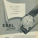 Ebel Watch Company Vintage 1954 Swiss Ad La Chaux-de-Fonds Switzerland Suisse Advert