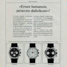 Breitling Watch Company Switzerland 1966 Swiss Ad Suisse Horlogerie Advert