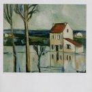 Maurice de Vlaminck Maison au Bord de la Riviere Art Ad Advertisement