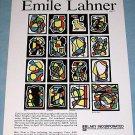 Emile Lahner Vintage 1976 Art Ad Advertisement