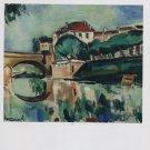 Maurice de Vlaminck Le Pont de Poissy Art Ad Advertisement