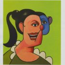 George Condo Girl with Ponytail Art Ad