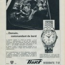 1960 Tissot Watch Company Switzerland Vintage 1960 Swiss Ad Suisse Advert Tissot Visodate Advert