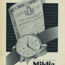 1954 Mildia Watch Company La Chaux-de-Fonds Switzerland Vintage 1954 Swiss Ad Suisse Advert
