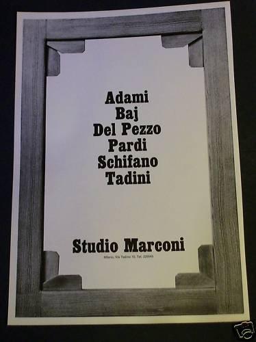 1968 Studio Marconi Milano Italy Vintage 1968 Art Ad Advertisement Adami Baj Del Pezzo Pardi +