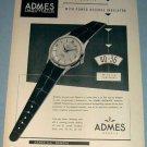 Admes Watch Company 1953 Swiss Ad Geneva Switzerland Geneve Suisse Advert
