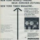 1960 Movado Watch Company Switzerland Vintage 1960 Swiss Ad Suisse Advert Horlogerie Horology