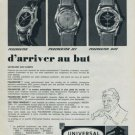 1960 Universal Watch Company Switzerland Vintage 1960 Swiss Ad Universal Geneve Suisse Advert