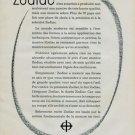 1960 Zodiac Watch Company Switzerland Vintage 1960 Swiss Ad Suisse Advert Horology Horlogerie