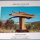 1976 Sculptor Melvin Schuler Vintage 1976 Art Exhibition Ad Advert Advertisement
