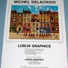 1976 Michel Delacroix Au Petit Mousse Vintage 1976 Art Ad Advertisement