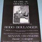 1976 Graciela Rodo-Boulanger Ram Vintage 1976 Art Ad Advertisement