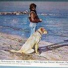 1976 Shirl Goedike Retrospective Vintage 1976 Art Exhibit Ad Advertisement