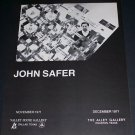 John Safer Vintage 1971 Art Exhibition Ad Advert Valley House Gallery and The Alley Gallery