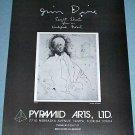 1976 Jim Dine Die-Maker Vintage 1976 Art Ad Advertisement