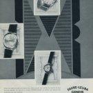 1960 Favre-Leuba Watch Company Geneva Switzerland Vintage 1960 Swiss Ad Suisse Advert Horology