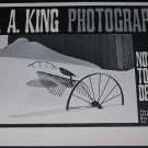 1971 Photographer B.A. King Vintage 1971 Art Exhibition Ad Advert The Witkin Gallery, NY