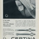 Certina Watch Company Vintage 1960 Swiss Ad Suisse Advert Horlogerie Horology