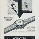 1956 Nivada Watch Company Switzerland Vintage 1956 Swiss Ad Suisse Advert