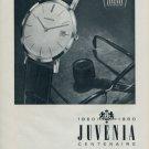 1960 Juvenia Watch Company Centenaire Vintage 1960 Swiss Ad Suisse Advert Horlogerie