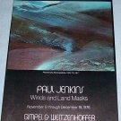 1976 Paul Jenkins Winds and Land Masks Vintage 1976 Art Exhibition Ad Advert