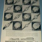 1954 National Watch Company Switzerland Vintage 1954 Swiss Ad Suisse Advert Horology