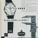 1956 Sandoz Watch Company Switzerland Sandoz Datum Advert Vintage 1956 Swiss Ad Suisse Advert